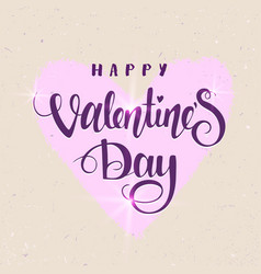 valentines day text vector image