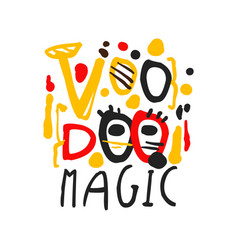 voodoo african and american magic logo text vector image