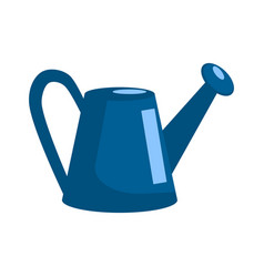 watering can in flat style design isolated vector image
