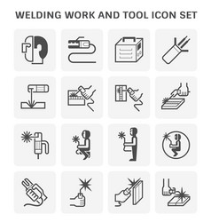 Welding and tool icon vector