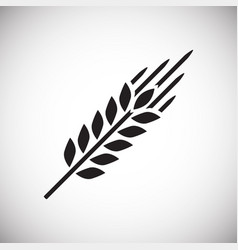 Wheat icon on white background for graphic and web vector