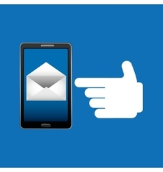 Concept email newsletter chat icon vector