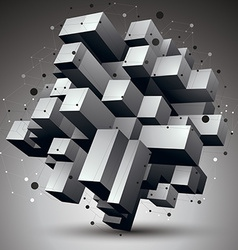 Contemporary technology black and white stylish vector image