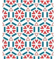 Seamless ceramic winter snowflake pattern vector image