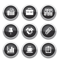 black business office buttons vector image vector image