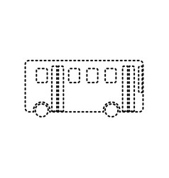 Bus simple sign black dashed icon on vector