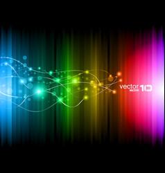 futuristic rainbow vector image vector image