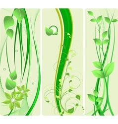 green design set vector image vector image