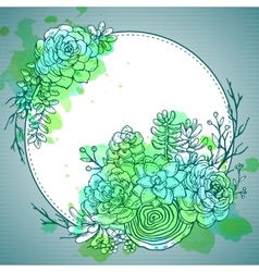 Hand drawn composition of succulent plants vector image vector image