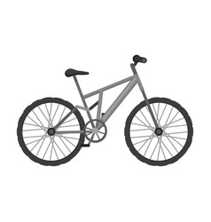 mountain bike cycling downhill from the mountains vector image