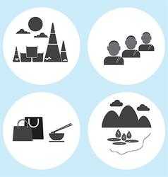 Thailand travel icon vector image
