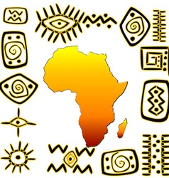 African symbols set vector image vector image