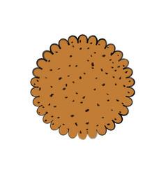 cookie delicious snack vector image
