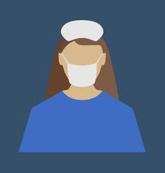 female doctor medical object flat icon vector image vector image