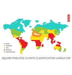 Flat World Map Infographic Map of the World vector image vector image