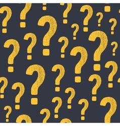 Grunge question mark seamless pattern vector