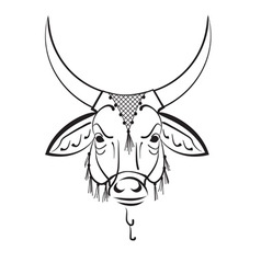 Indian sacred cow zebu vector
