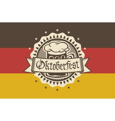 logo for Oktoberfest in the pub or bar during the vector image