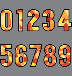 Polygon 0-9 Number Design vector image