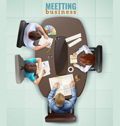 Top view meeting vector
