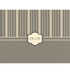 Vintage damask decor pattern vector image