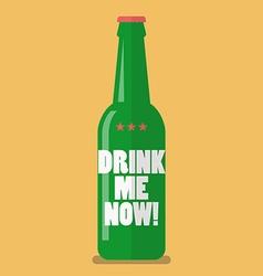 Beer bottle drink me now vector image vector image
