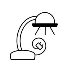 Desk lamp electronic appliance outline vector