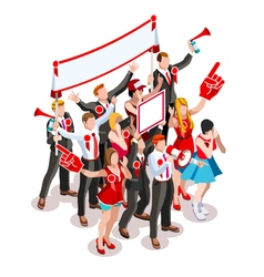 Election Infographic Crowd Rally Isometric People vector image vector image