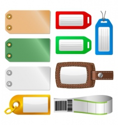 luggage tags vector image vector image