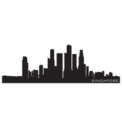 singapore asia skyline detailed silhouette vector image vector image