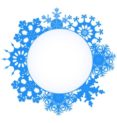 snowflake card vector image vector image