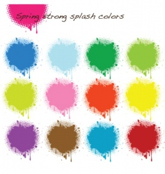 spring strong splash colors vector image