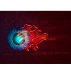 technology background vector image vector image