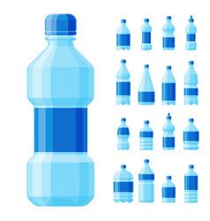 water plastic bottle transparent mineral vector image