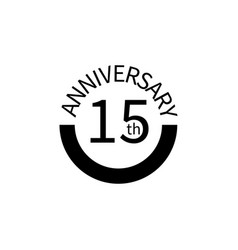 15 anniversary sign element of anniversary sign vector image