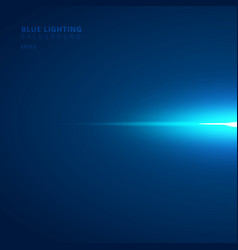 abstract horizontal blue ray light strips on dark vector image