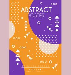 abstract poster original design creative placard vector image