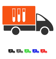 Analysis delivery flat icon vector