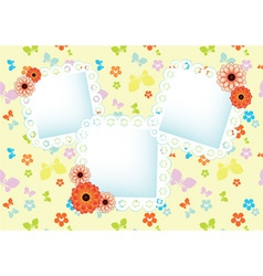 Background with lace frames vector