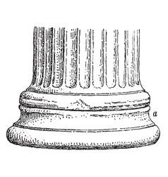 Base an ionic column at erechtheum vector