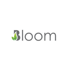 Bloom lettering typography logo design vector