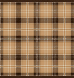 brown tablecloth tartan plaid seamless pattern vector image