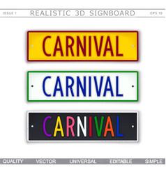 carnival design elements vector image