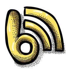 Cartoon image of blog icon blogging symbol vector