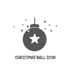 christmas ball icon simple flat style vector image