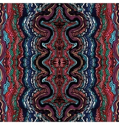 Colorful seamless waves hand-drawn pattern vector
