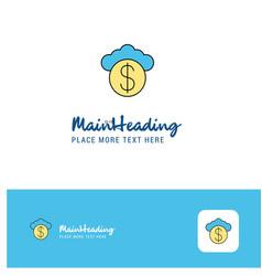 creative cloud dollar logo design flat color logo vector image