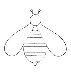 cute bee symbol vector image