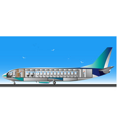 Design airplane interior vector