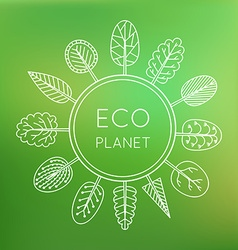 Ecology concept eco planet vector